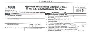IRS Form 4868 001