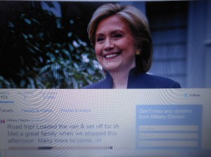 Clinton on Twitter