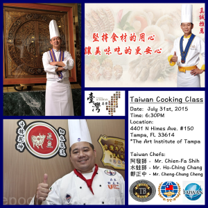 Taiwan Chefs Cooking Class