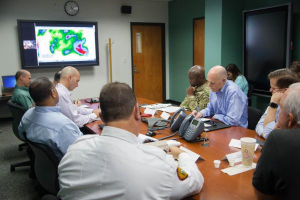 Gov. Scott getting Erika updates