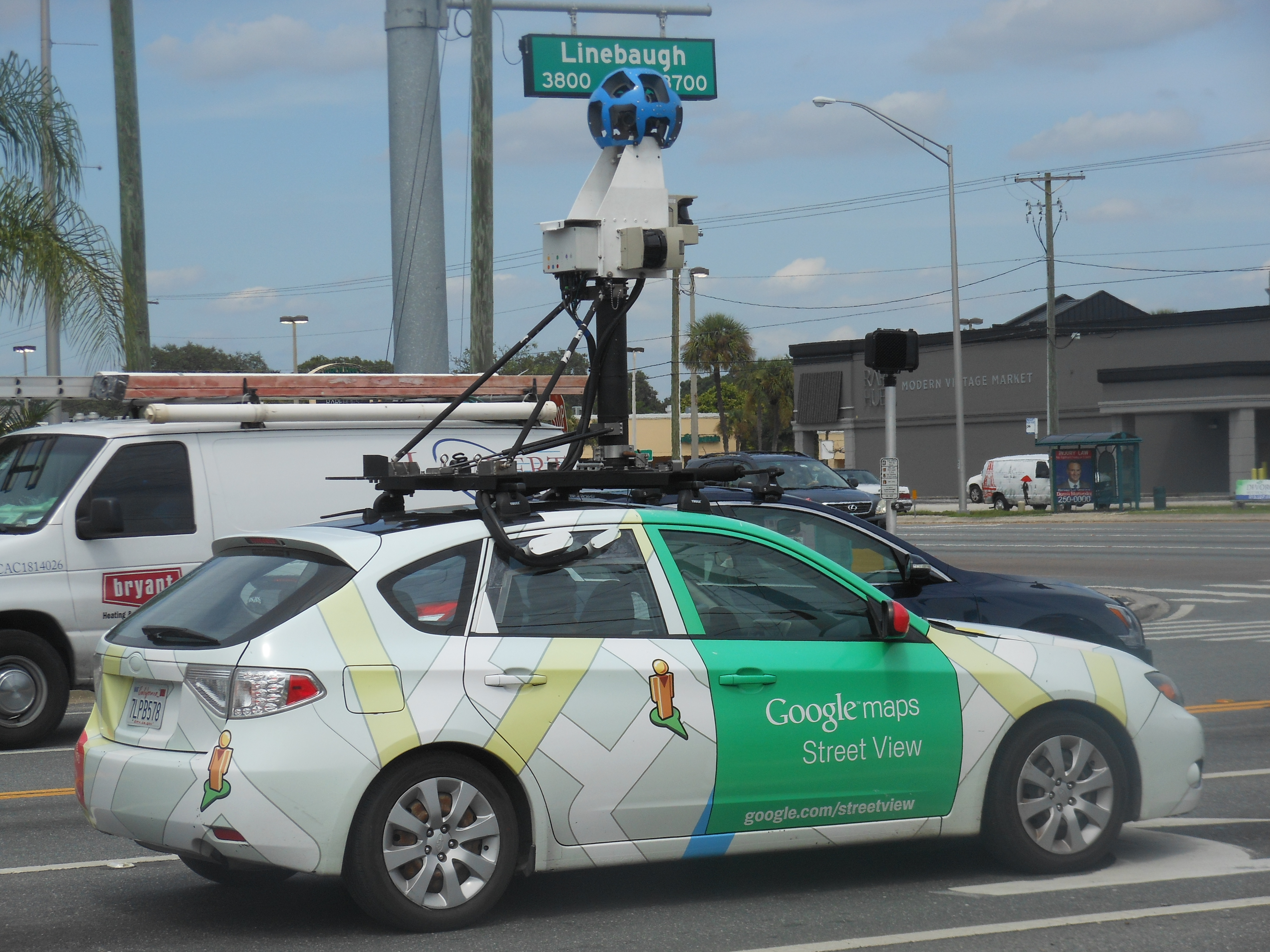 Google Maps Car in Tampa Area | News Blog on google earth camera car, google street view car, maps car with camera,