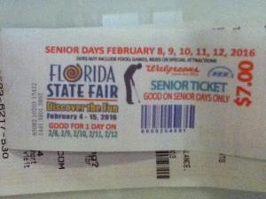 Florida State Fair Ticket 001