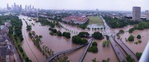 Houston Flooding 1 p.m. Buffalo Bayou Photo Pascal 4-18-16
