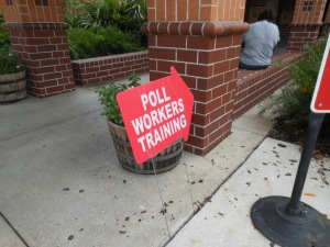 Tampa-Hillsboro County Pollworker Training Class on Aug. 4, 2016